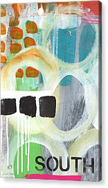 South- Abstract Expressionist Art Acrylic Print by Linda Woods