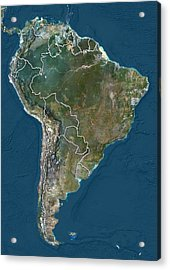South America, Satellite Image Acrylic Print by Science Photo Library
