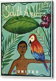 South America United Airlines Acrylic Print