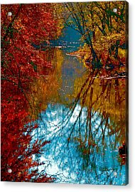 South Anna River Reflections Acrylic Print