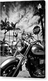 South Beach Cruiser Acrylic Print by Dave Bowman