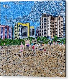 South Beach - Miami Acrylic Print by Micah Mullen