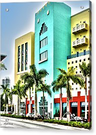 South Beach Acrylic Print by Michelle Wiarda