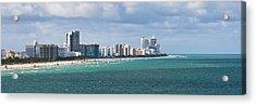 South Beach On A Summer Day Acrylic Print