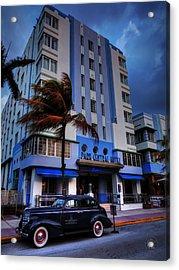South Beach - Park Central Hotel 001 Acrylic Print by Lance Vaughn