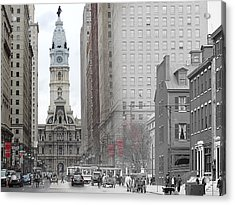 South Broad From Locust Street Acrylic Print