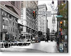 South Broad Street Sheep Acrylic Print by Eric Nagy