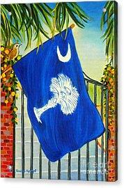 South Carolina - A State Of Art Acrylic Print by Shelia Kempf