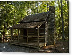 South Carolina Log Cabin Acrylic Print by Chris Flees
