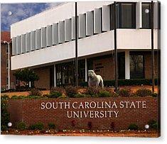 South Carolina State University 2 Acrylic Print by Bob Pardue
