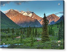South Fork Near Eagle River At Sunset Acrylic Print