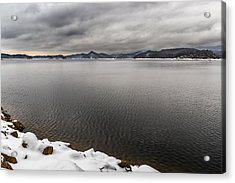 South Holston Snow Acrylic Print