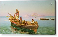 South Italian Fishing Scene Acrylic Print