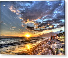 South Kihei Sunset Acrylic Print
