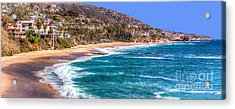 Acrylic Print featuring the photograph South Laguna Beach Coast by Jim Carrell