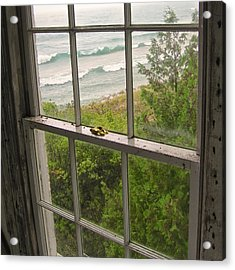 South Manitou Island Lighthouse Window Acrylic Print
