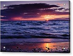 South Manitou Sunset Acrylic Print by Thomas Pettengill