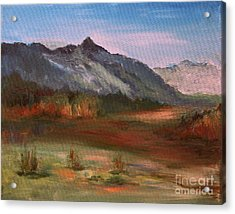 Acrylic Print featuring the painting South Mountain  by Julie Lueders