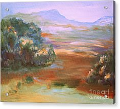Acrylic Print featuring the painting South Mountain Second In The Series by Julie Lueders
