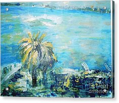 South Of France    Juan Les Pins Acrylic Print by Fereshteh Stoecklein
