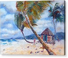 South Pacific Hut Acrylic Print