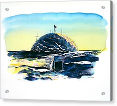 South Pole Dome Antarctica Acrylic Print by Carolyn Doe