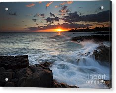 South Shore Waves Acrylic Print by Mike  Dawson
