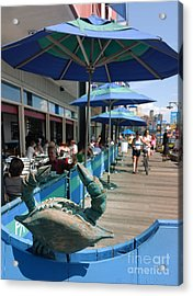 South Street Seaport New York Crab Acrylic Print by Amy Cicconi