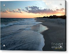 South Topsail Beach Sunset 2014 Acrylic Print