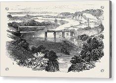 South Wales Railway, The Chepstow Tubular Suspension Bridge Acrylic Print