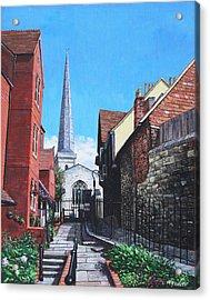 Southampton Blue Anchor Lane Acrylic Print by Martin Davey