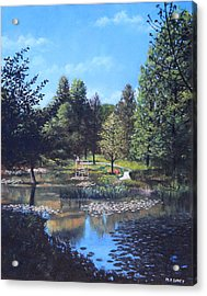 Southampton Hillier Gardens Late Summer Acrylic Print by Martin Davey