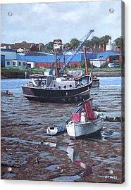 Southampton Northam Boats Acrylic Print by Martin Davey
