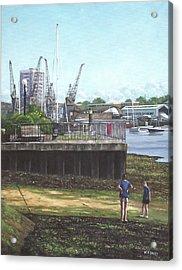 Southampton River Itchen Chapel Tredegar Wharf Acrylic Print by Martin Davey