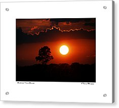 Acrylic Print featuring the photograph Southeast Texas Sunset by Travis Burgess