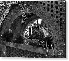 Southern Arches Bw Acrylic Print