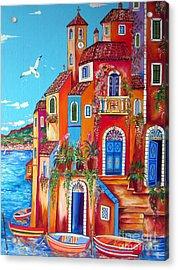 Southern Italy Amalfi Coast Village Acrylic Print