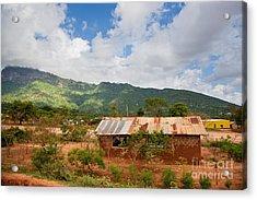 Southern Kenya Poverty Landscape Acrylic Print by Michal Bednarek