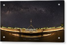 Southern Sky Parliament House  Acrylic Print by Andrew Prince