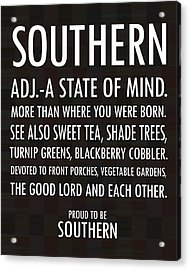 Southern State Of Mind Black And White Acrylic Print