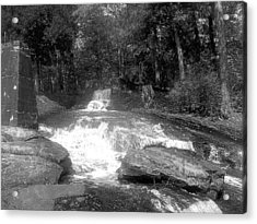 Southern Stream In Black And White Acrylic Print