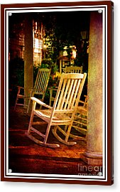 Southern Sunday Afternoon Acrylic Print by Susanne Van Hulst
