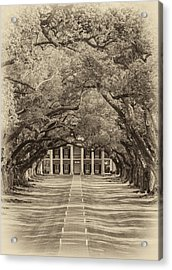 Southern Time Travel Sepia Acrylic Print by Steve Harrington