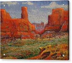 Southern Utah In The Spring Acrylic Print by Paul Benson