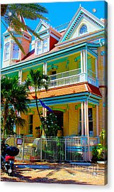 Southernmost House Acrylic Print by Carey Chen