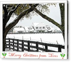 Southfork Christmas Acrylic Print by Dyle   Warren