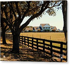 Southfork Ranch - Across The Pasture Acrylic Print by Robert ONeil