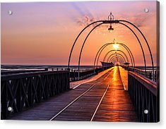 Southport Pier Acrylic Print by Paul Madden