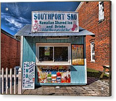 Southport Sno Acrylic Print by Don Margulis