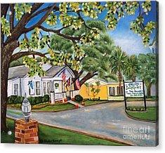 Southport Tea House Acrylic Print by Shelia Kempf